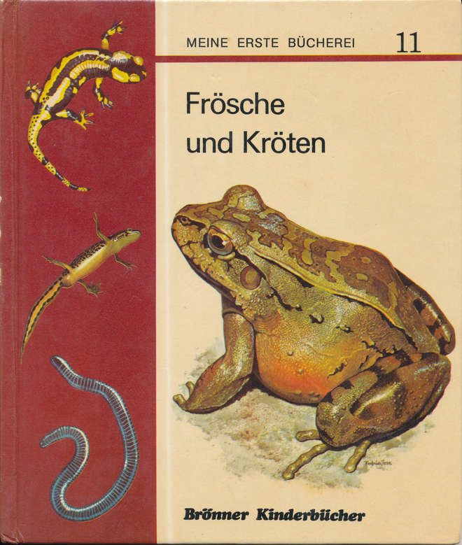 Frog book, inspiration for Monika Bohm's career in science