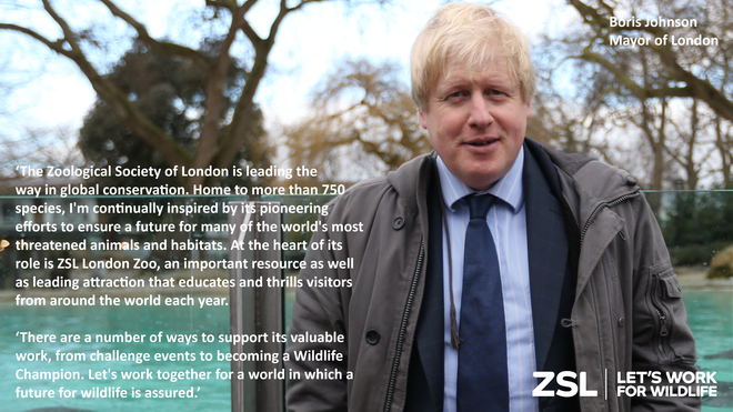 Boris Johnson at ZSL London Zoo