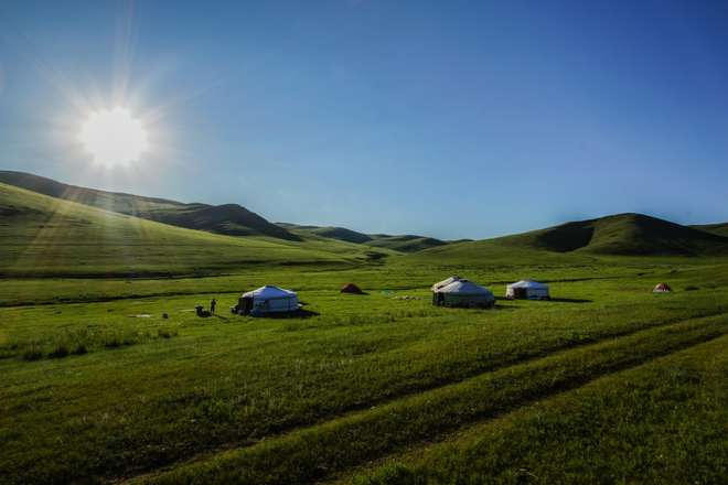 ZSL Mongolia Summer Field Course 2015 Camp Site