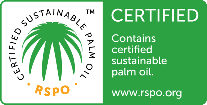 RSPO Trademark logo for products containing certified sustainable palm oil (CSPO)