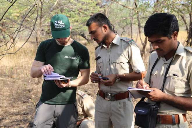 Training forest guards in the Gir Forest National Park