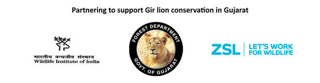 Asiatic lion Gir conservation partners logos