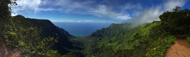 The beautiful Napali coast of the island of Kaua'I in the Hawaiian archipelago © Noelle Kumpel