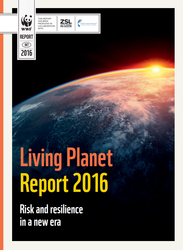 Living Planet Report 2016 cover