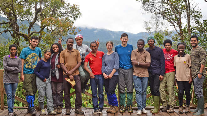 The 14 new EDGE fellows meeting in Madagascar