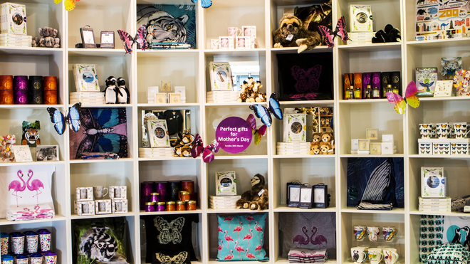 Mother's Day gifts in ZSL London Zoo's gift shop