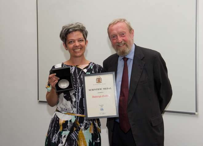 Ashleigh Griffin receives the Scientific Medal