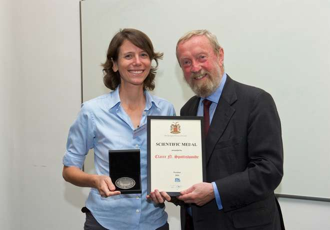 Claire Spottiswoode receives the Scientific Medal