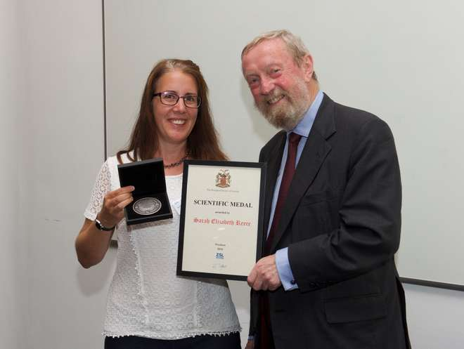 Sarah Reece received the Scientific Medal