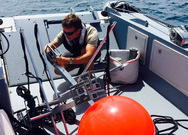 Tom onboard one of the Yersin tenders