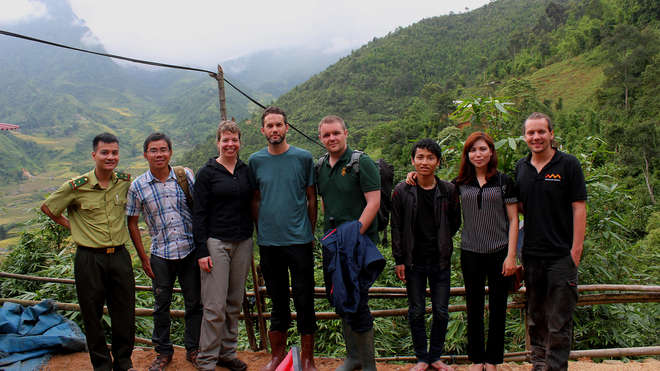 The project team in the Hoang Lien Range, northern Vietnam