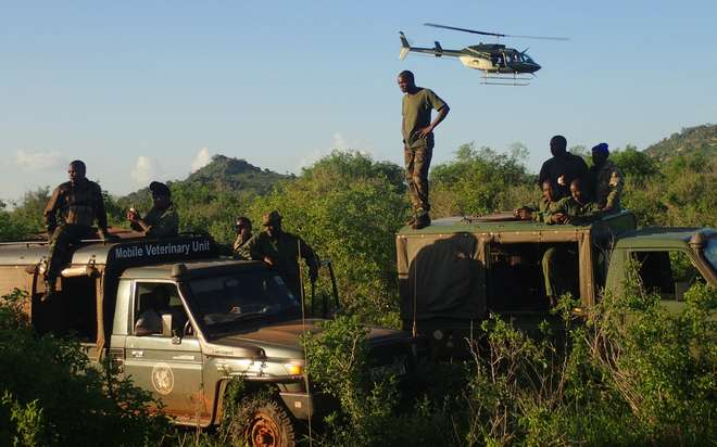 Chopper Search in the Tsavo Conservation Area