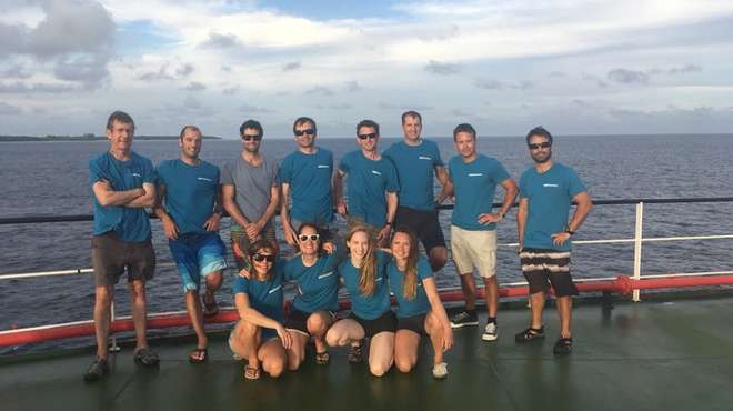 Our May 2018 reef expedition team