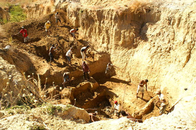 Christmas River dig site in Madagascar