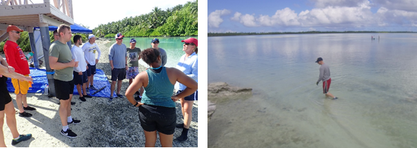 2018 Nov. Volunteer briefing. Turtle Cove, Diego Garcia, BIOT