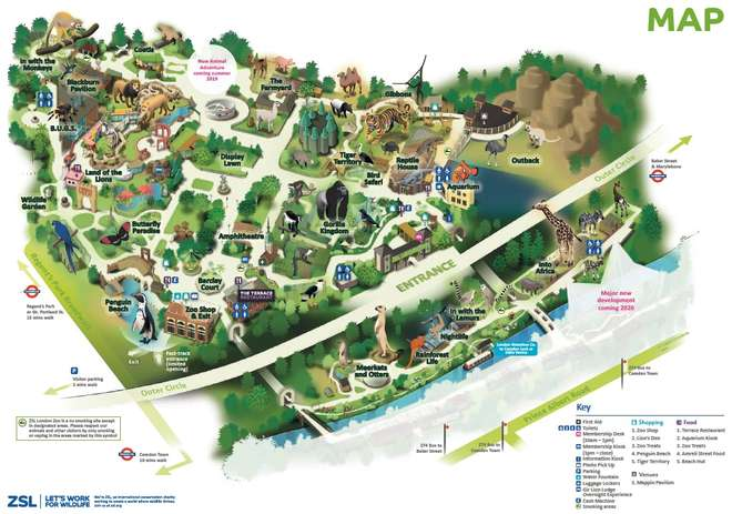 Map of ZSL London Zoo | Zoological Society of London (ZSL) Zoo Map on