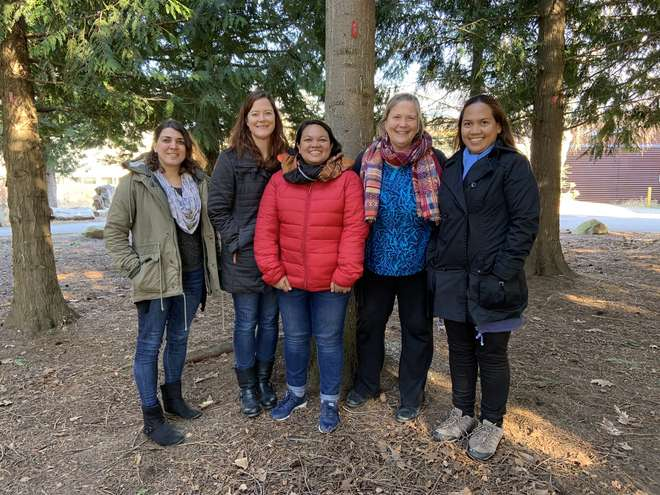 The research team: Lily Stanton, Sarah Foster, Angie Nellas, Amanda Vincent and Myrtle Arias