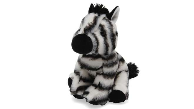 A zebra soft toy
