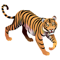 Sumatran Tiger Map Icon